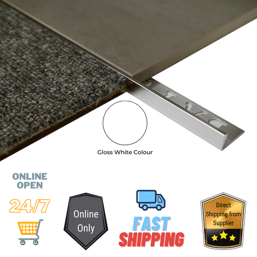 Aluminium Tiling Angle (Punched + Gloss White 3.0M)