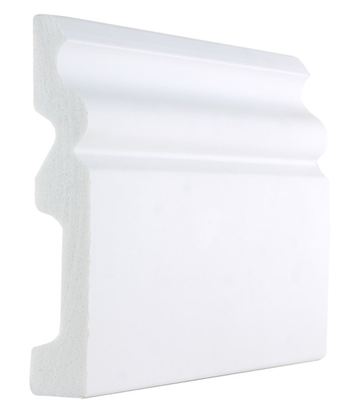 White Plastic PVC Ogee Skirting Boards -120mm x 20mm x 2900mm