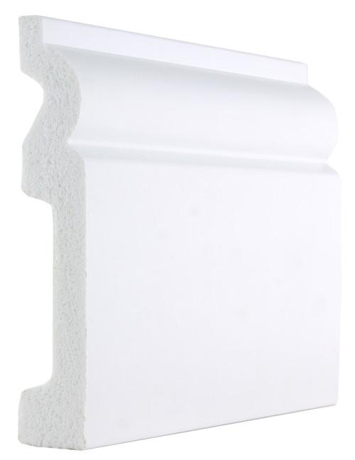 White Plastic PVC Torus Skirting Boards -120mm x 20mm x 2900mm