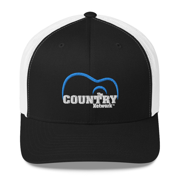 The Country Network Trucker Cap- Black and White