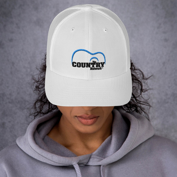 The Country Network Trucker Cap- White