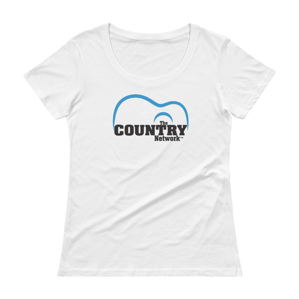 The Country Network Ladies' Scoopneck T-Shirt- white
