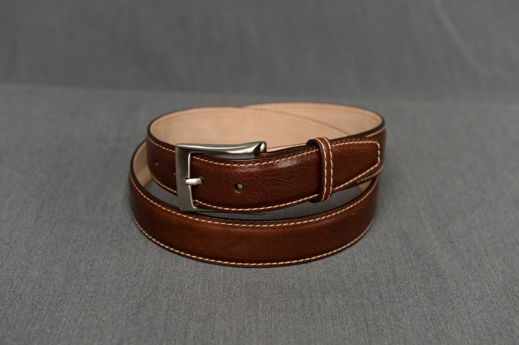 Italian calfskin belt - Brown