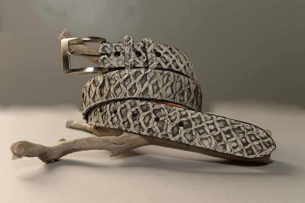 Pirarucu/Arapaima Belt - Salt & Pepper