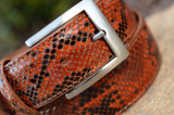 Python Belt - Marked Cognac