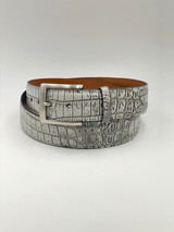 Two Tone Nile Crocodile belt - Himalayan