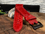 Alligator Watch Band - Glazed Red