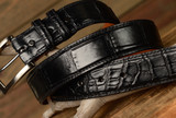 Matte Alligator Belt  -  Black