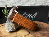 Alligator Watch Band - Cognac