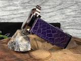 Alligator Watch Band - Glazed Purple