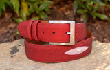 Stingray Belt - Red w/ Crown