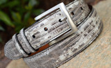 Lizard Belt - Natural Marked Black and White