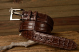 Matte Alligator Belt - Brown