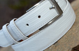 Lizard Belt - White