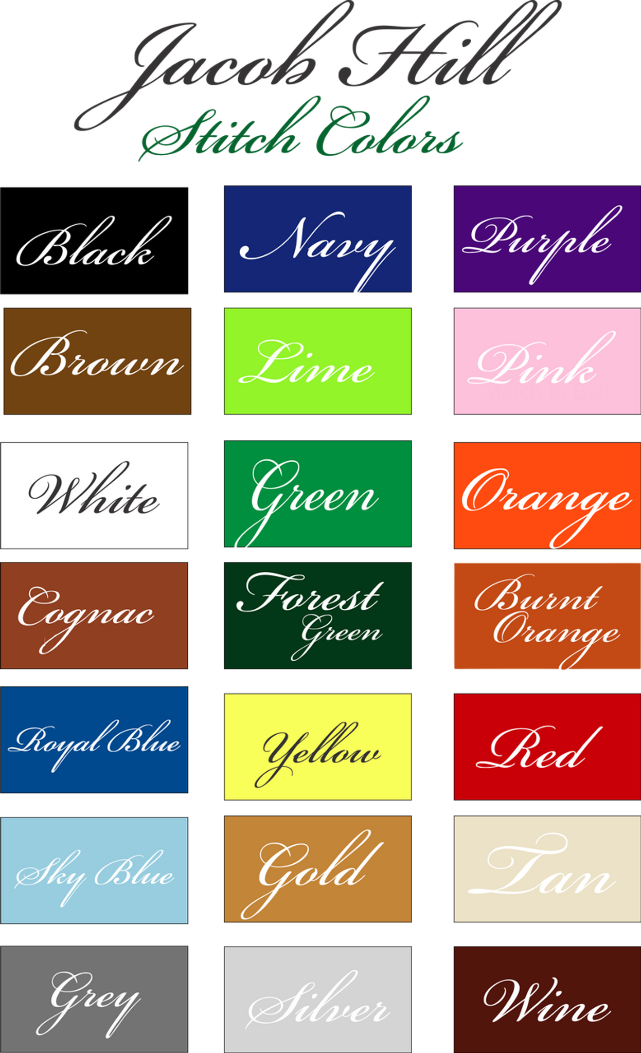 JH Thread Colors