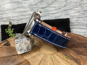 Alligator Watch Band - Navy Millennium