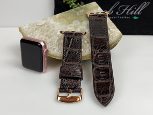 Ladies Alligator Apple Watch Strap -  Millennium Brown