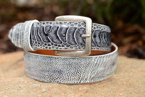 Grey And White with matching stitch