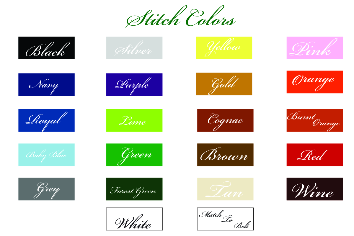 Jacob Hill Stitch Colors