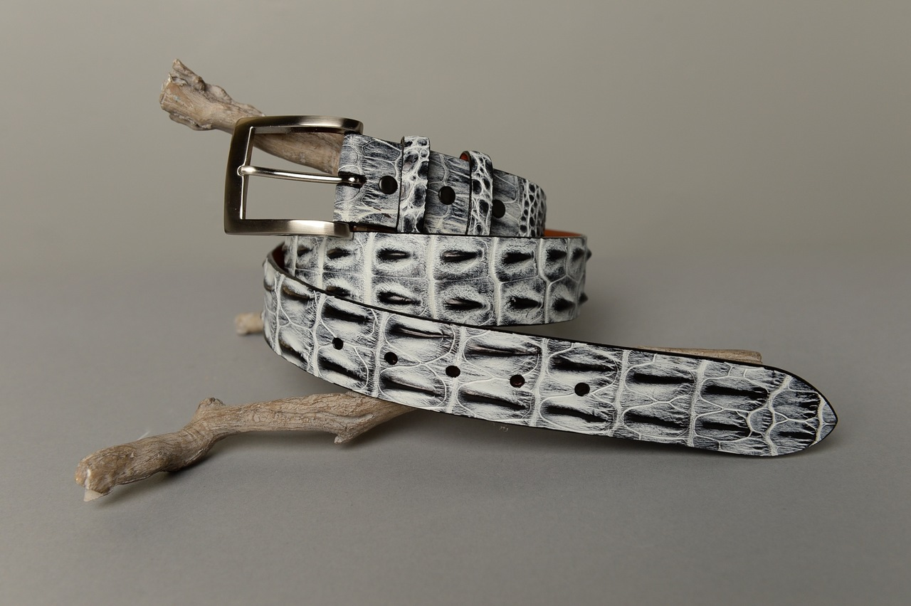 Hornback Saltwater Crocodile Belt - White Smoke