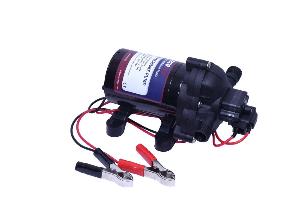 Eccotemp EccoFlo Diaphragm 12V Water Pump with +/- Alligator Clips