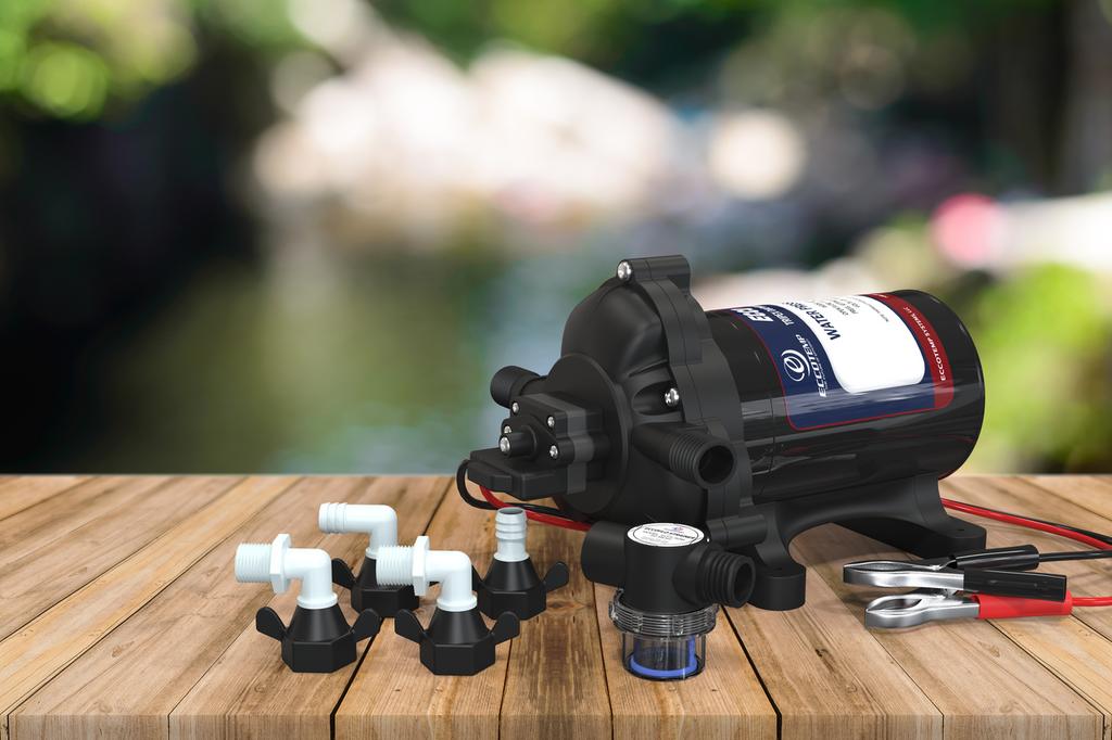 Eccotemp EccoFlo Triplex Diaphragm 12V Water Pump and Strainer
