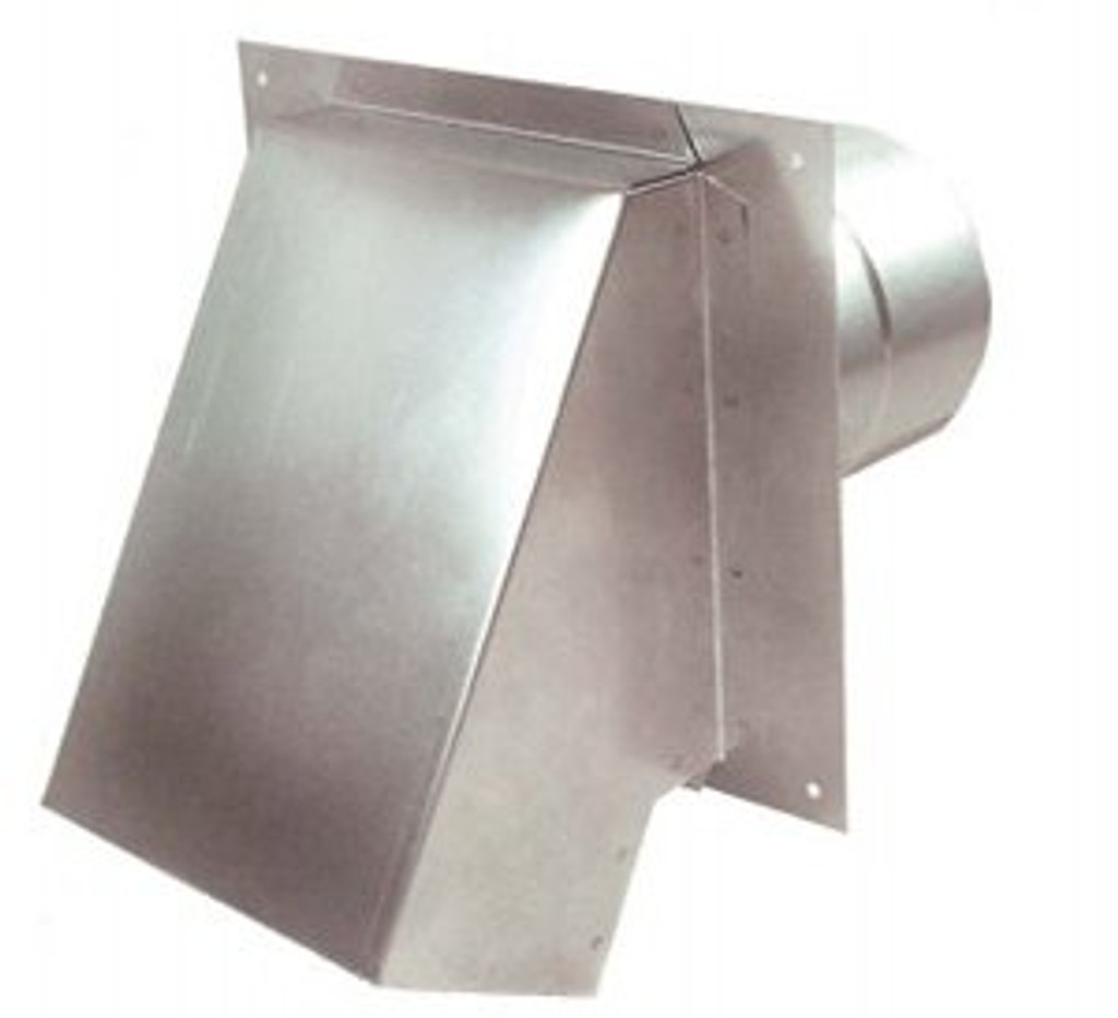 "4"" Termination Vent Hood  with Damper"