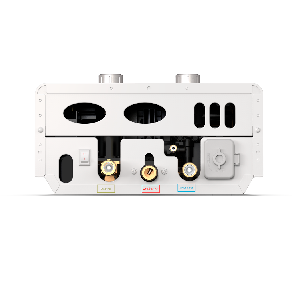Luxe EL7 Portable Outdoor Tankless Water Heater Bottom View