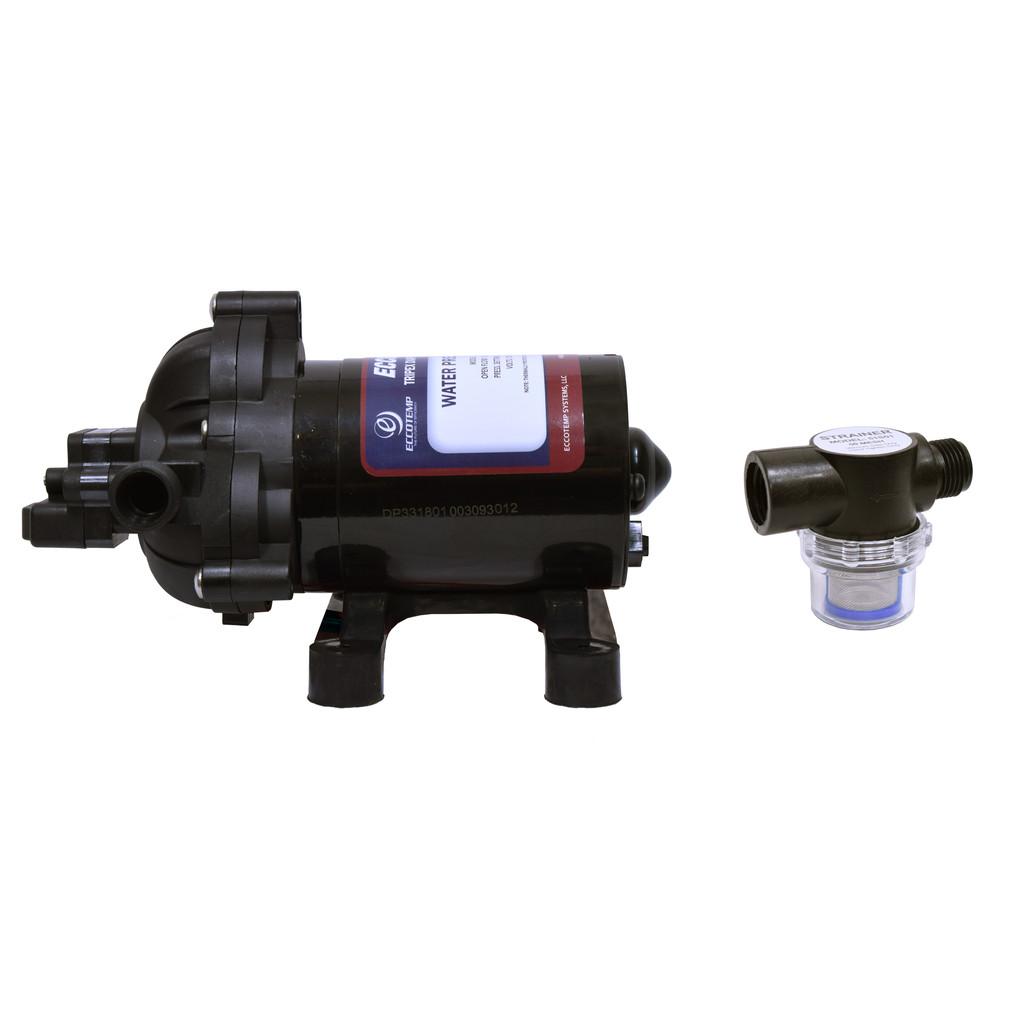 Eccotemp L5 Portable Outdoor Tankless Water Heater Eccoflo Pump & Strainer