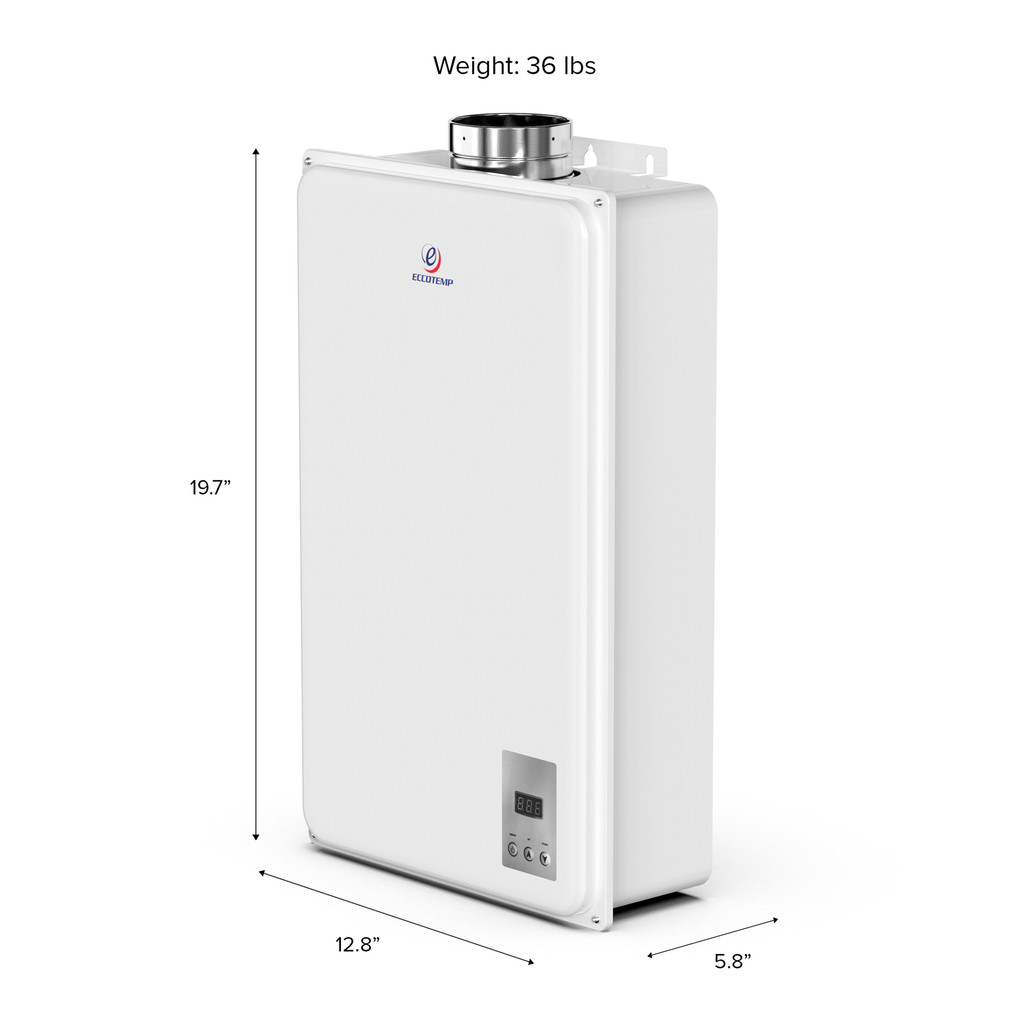 Eccotemp 45HI Indoor 6.8 GPM Liquid Propane Tankless Water Heater Side Callout