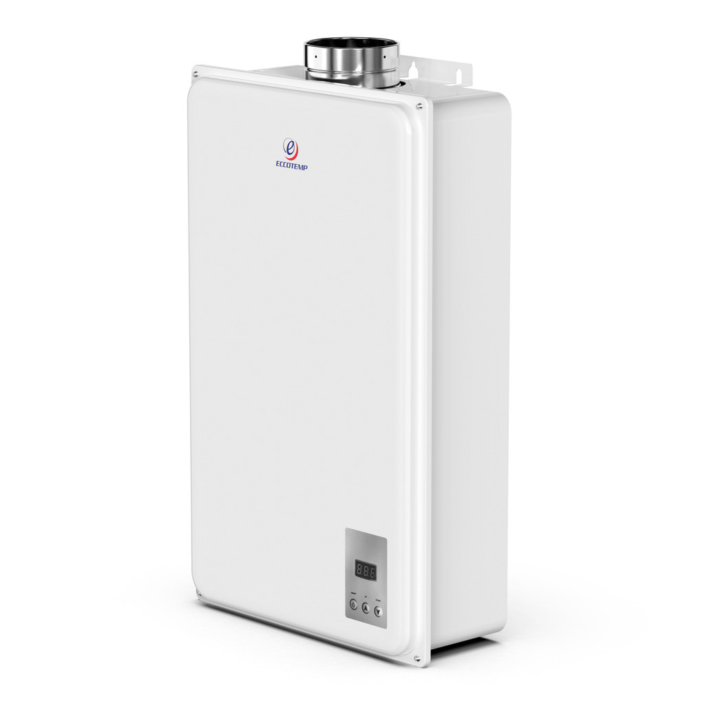Eccotemp 45HI Indoor 6.8 GPM Natural Gas Tankless Water Heater Side View