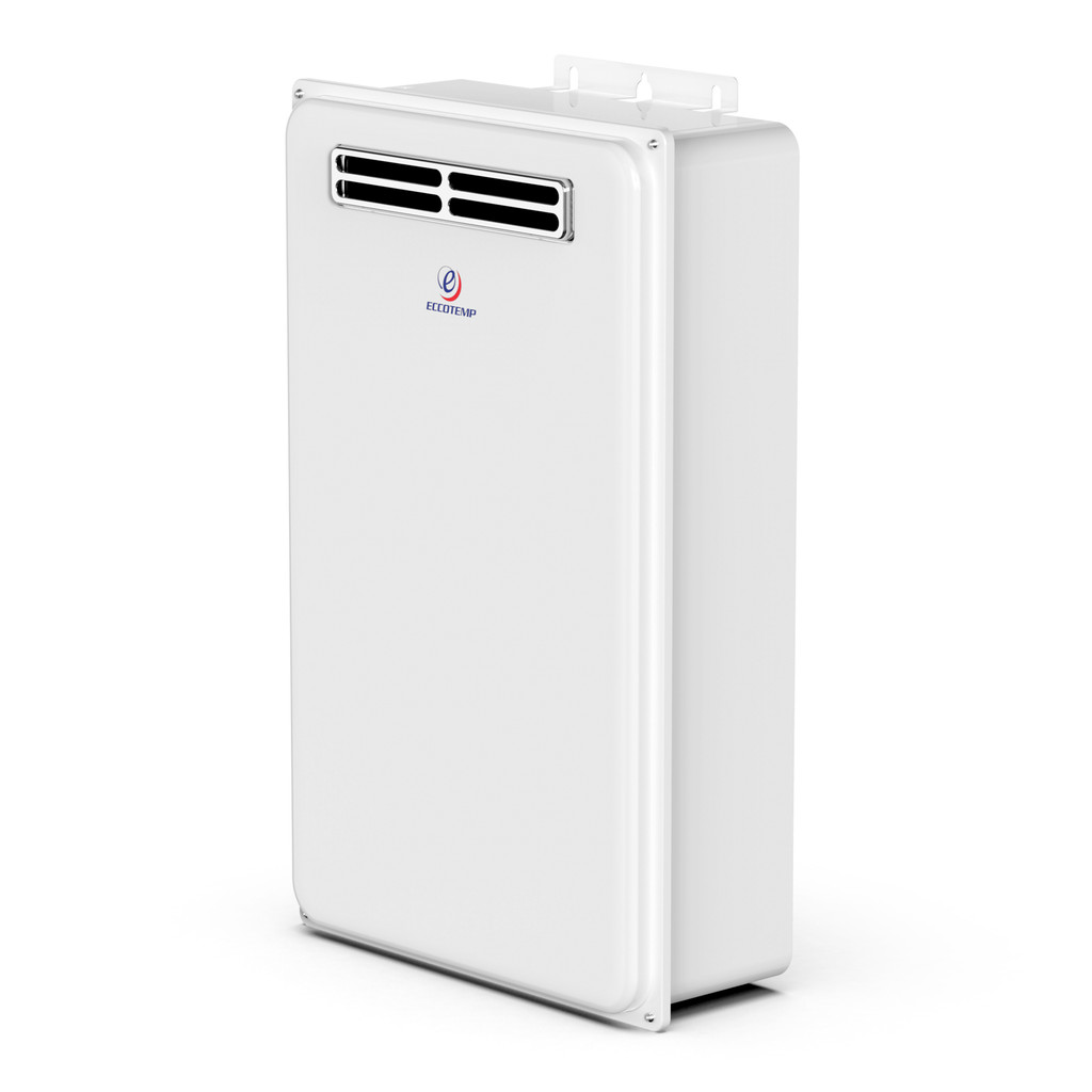 Eccotemp 45H Outdoor 6.8 GPM Liquid Propane Tankless Water Heater Side View