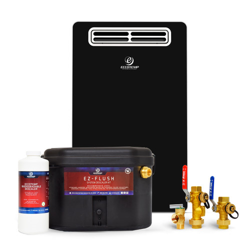 Eccotemp EL22 Outdoor 6.8 GPM Natural Gas Tankless Water Heater Service Bundle