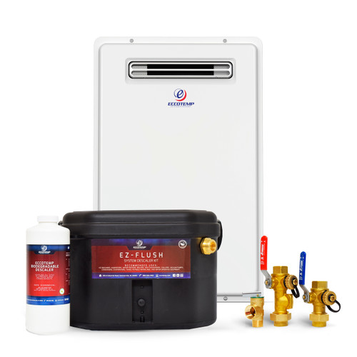 Eccotemp 20H Outdoor 6.0 GPM Liquid Propane Tankless Water Heater Service Bundle