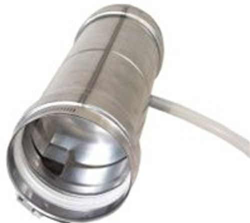 "Universal Appliance Adapter With Back Flow Preventer and  4"" Condensation Drain Pipe Side View"