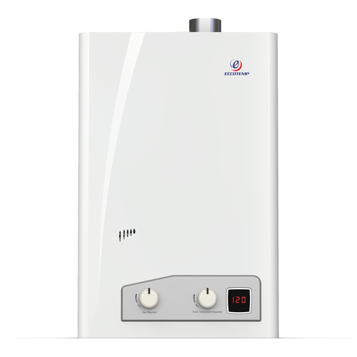 Eccotemp FVI12 Indoor 4.0 GPM Liquid Propane Tankless Water Heater Front View