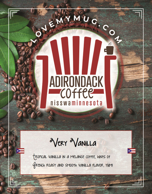 Rich vanilla flavor, with both medium and dark roasted coffees