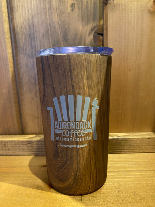Small Wood Grain Tumbler with Straw