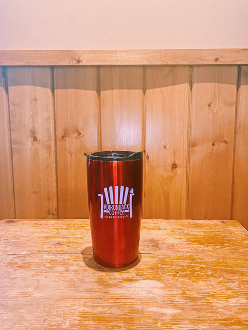 Red Stainless Steel 20 oz Travel Mug