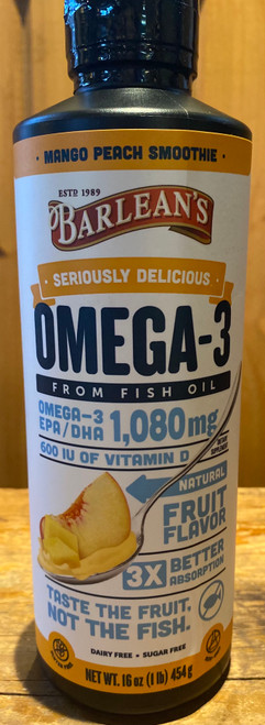 Seriously Delicious Omega-3 - Mango Peach 16 oz