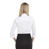 White - Back, 18CV304 Van Heusen Ladies' ¾ Sleeve Dress Twill Shirt | T-shirt.ca
