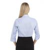 English Blue - Back, 18CV304 Van Heusen Ladies' ¾ Sleeve Dress Twill Shirt | T-shirt.ca