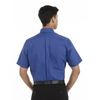 French Blue - Back, 18CV314 Van Heusen Short Sleeve Oxford Shirt | T-shirt.ca