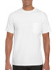 White - 2300 Gildan Ultra Cotton Pocketed T-Shirt   T-shirt.ca