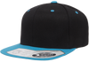 Black/Teal -  FF110F Flexfit Wool Blend Flat Bill Snapback Hat | T-shirt.ca