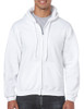 White - 18600 Gildan 50/50 Full Zip Hooded Sweatshirt | T-shirt.ca