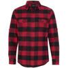 Red/Black - BR8210 Burnside Men's Woven Plaid Flannel | T-shirt.ca
