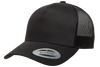 Black - YU6506 Yupoong Five Panel Retro Trucker Cap | T-shirt.ca