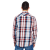 Red - BR8202 Burnside Men's Long Sleeve Plaid Shirt