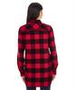 Red/Black Buffalo - Back, 5210 Burnside Ladies Woven Plaid Flannel | T-shirt.ca
